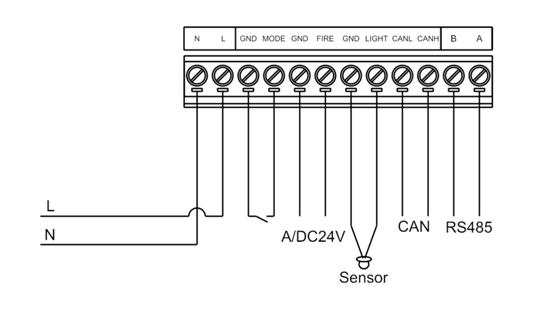 智能时钟管理器接线图